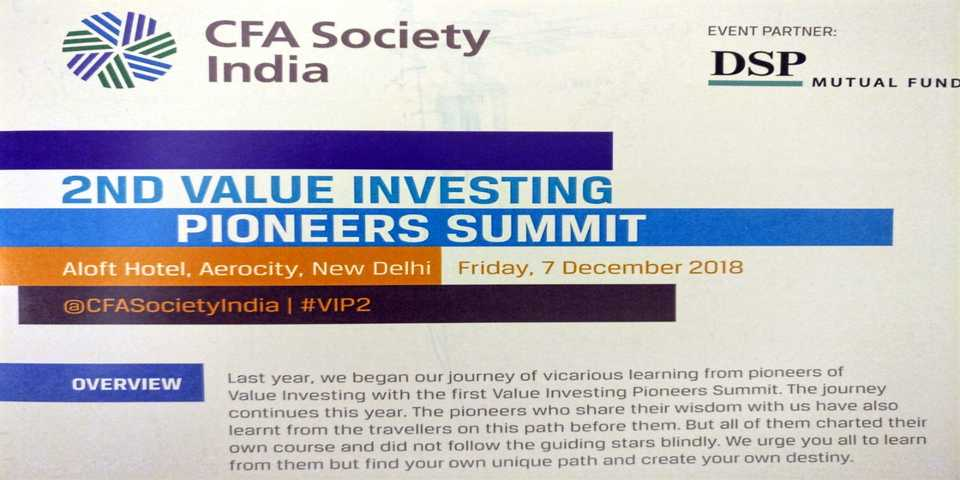 Key notes from 2nd Value Investing Pioneer Summit